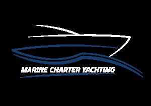 logo yacht noir sur l'eau de Marine Charter Yachting