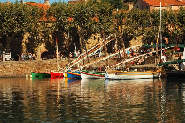 Collioure village dans le 66, et les barque catalane